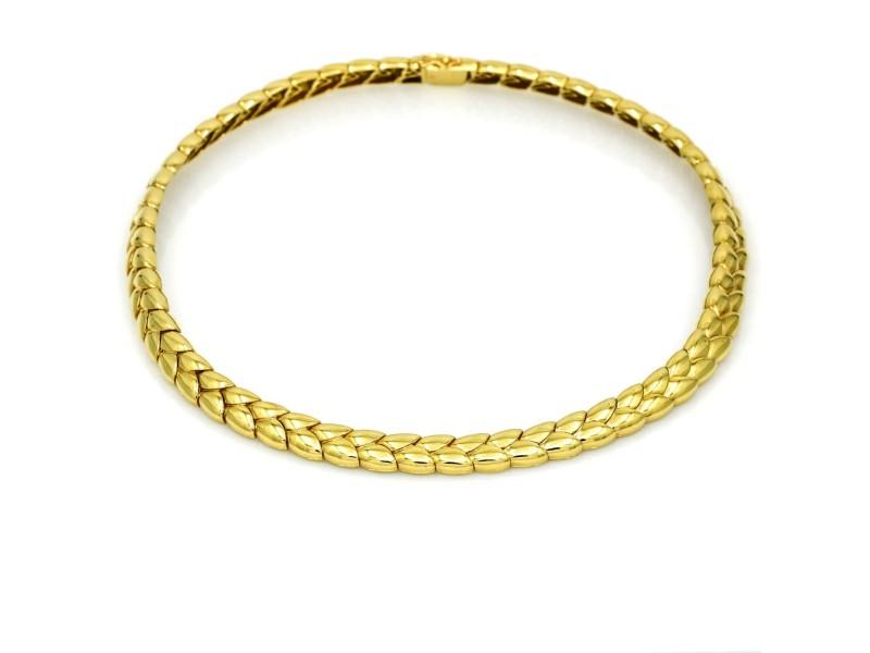 Van Cleef & Arpels Fancy Link Choker Necklace in 18k Yellow Gold
