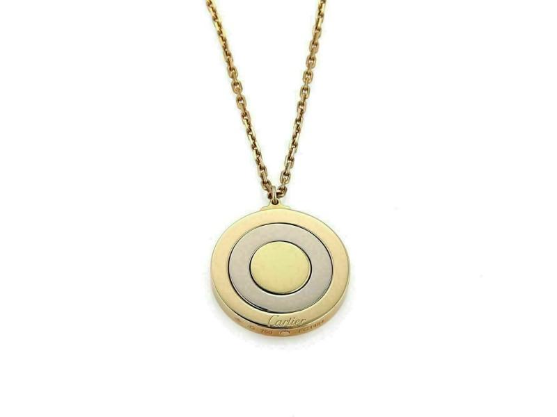 Cartier 18k Tricolor Gold Movable Triple Disc Pendant w/Cert.
