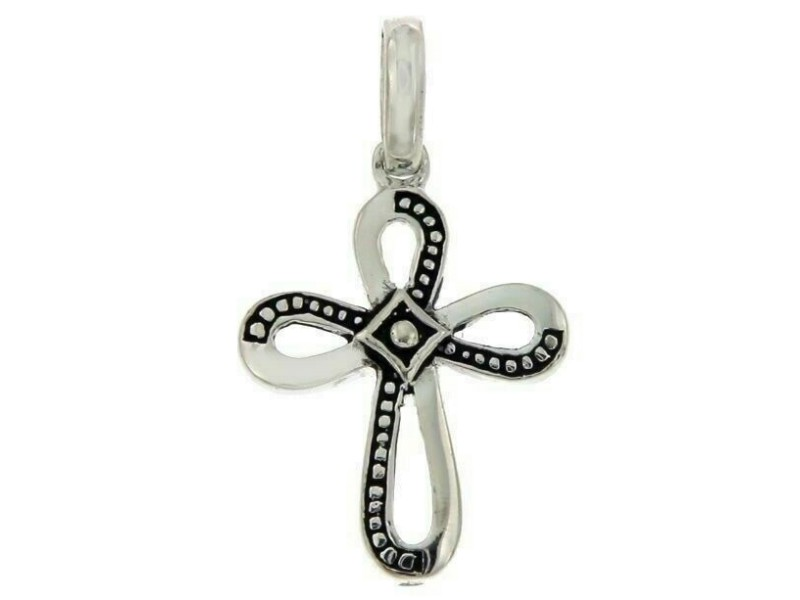 ¦Women's 925 sterling Silver Cross Rhodium Plated Pendant » S15