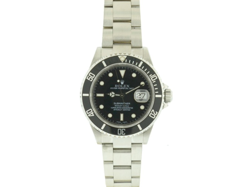 Rolex 16610 Submariner Black Dial 40mm Stainless Steel Automatic Watch