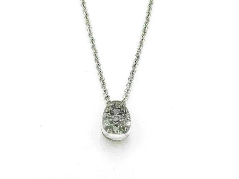 Cartier Myst De Cartier Diamond Rock Crystal 18k White Gold Pendant w/Paper