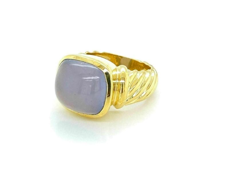 David Yurman Chalcedony 18k Yellow Gold Ring