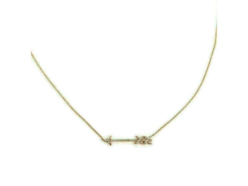 Tiffany & Co. Picasso Grafitti Diamond 18k Rose Gold Arrow Pendant