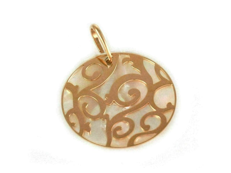Mattioli Siriana MOP 18k Rose Gold Lattice & Gem Round Pendant Rt. $2,880