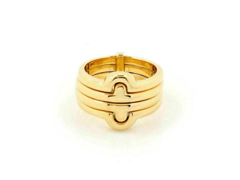 Bvlgari Parentesi 18k Yellow Gold 4 Stacking Band Ring