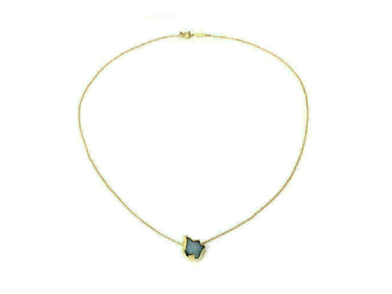 Tiffany & Co. Chalcedony 18k Yellow Gold Tulip Pendant & Chain
