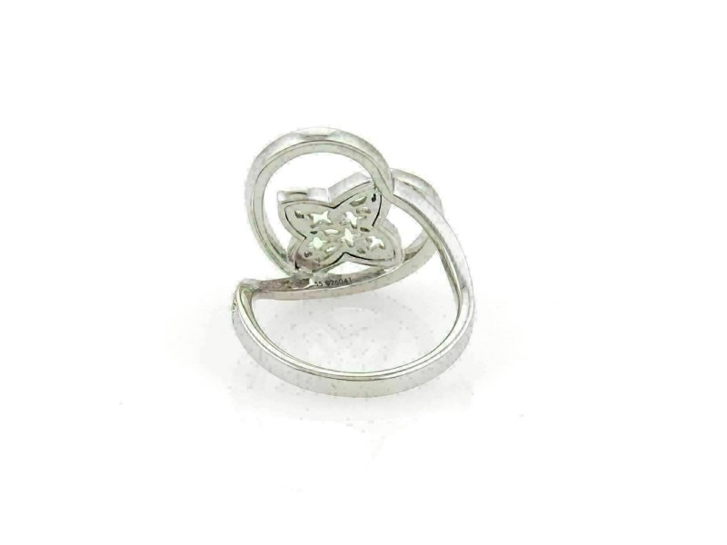 Louis Vuitton Idylle Blossom Diamond 18k Gold Monogram Ring Size 55