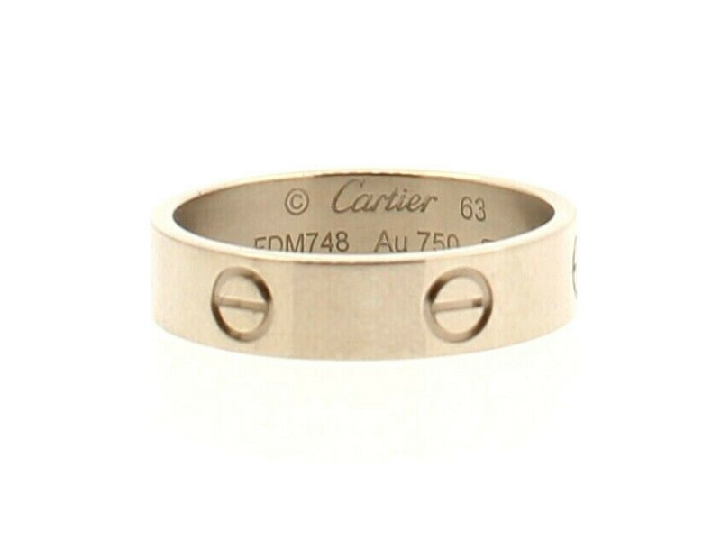 Authentic Cartier Love Ring White Gold Size 63 US 10.5 Original Box 5.5mm