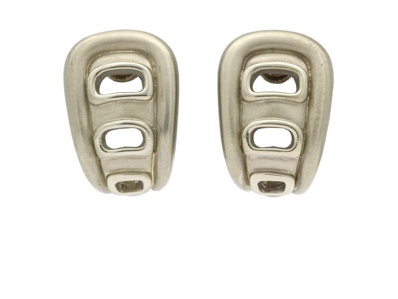Kieselstein Cord Vintage Clip-On Earrings in 18k White Gold