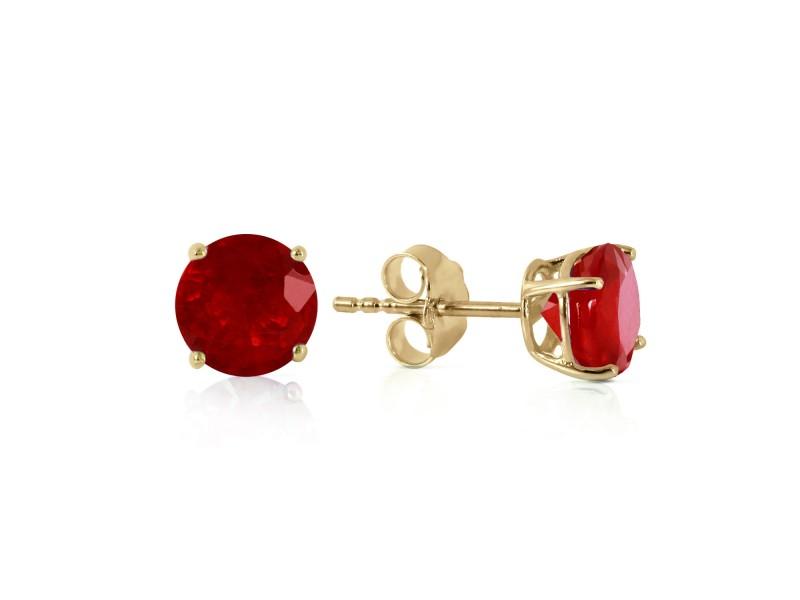 0.95 CTW 14K Solid Gold Fiercely We Believed Ruby Earrings
