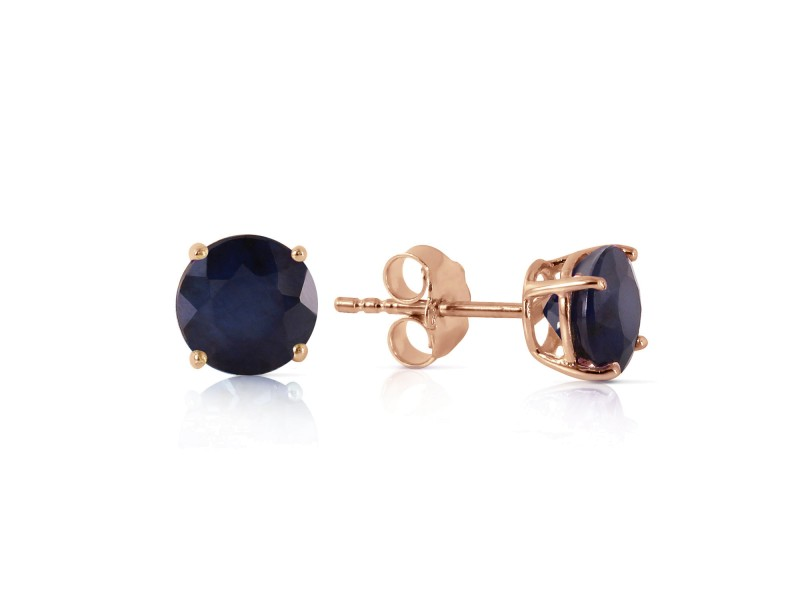 0.95 CTW 14K Solid Rose Gold Petite Sapphire Stud Earrings