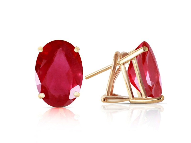 3.5 CTW 14K Solid Gold I Kept Thinking Ruby Earrings