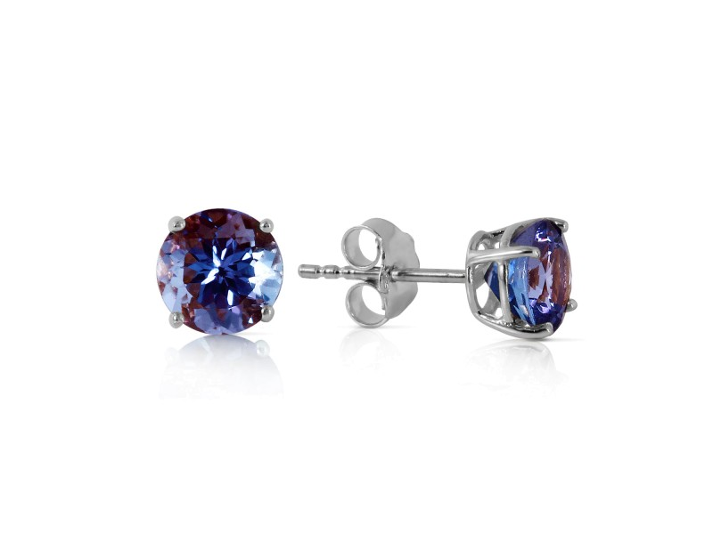 0.95 CTW 14K Solid White Gold Own Standard Tanzanite Earrings