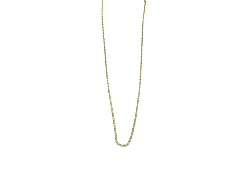Amoro 14K Yellow Gold Twisted Rope Link Chain Necklace
