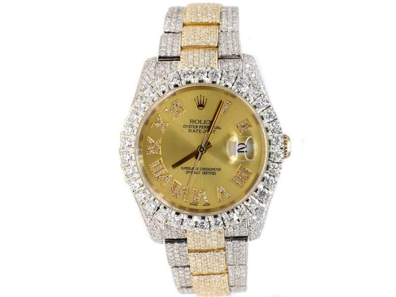 Rolex Datejust 36mm 2-Tone Oyster 17.7ct Diamond-Paved Watch