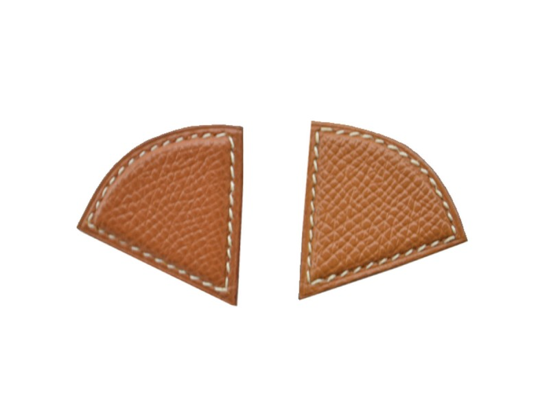 Hermes Metallic Leather Earrings