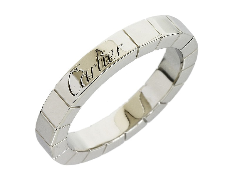 Cartier Pt 950  Platinum  Lanieres Wedding Band Ring Size 4.75
