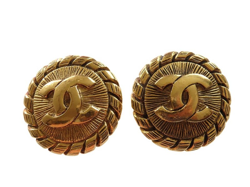 Chanel Metal Gold Earrings