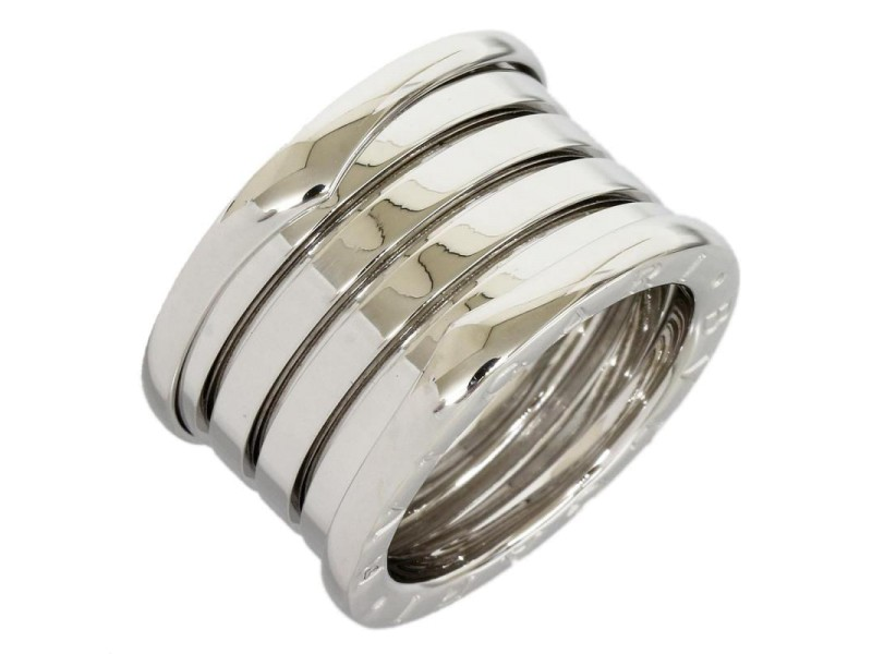 Bulgari 18K White Gold One Five Band Ring