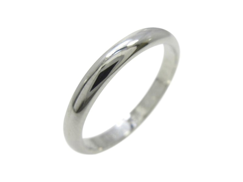 Cartier PT 950 Platinum Wedding Ring Size: 3.75