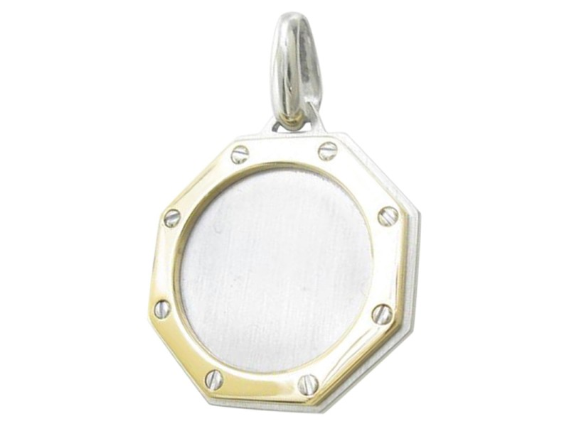 Cartier 18K Yellow Gold Hexagonal Pendant