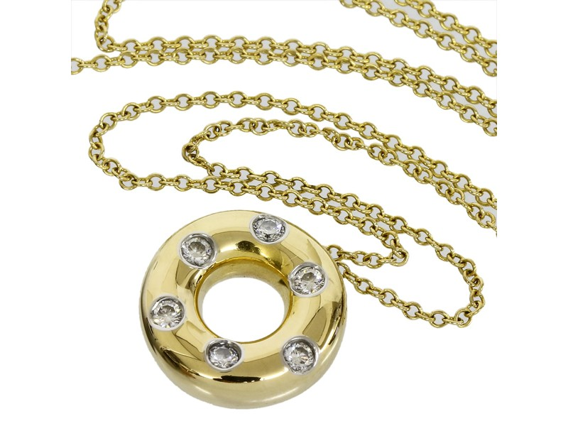 Tiffany & Co. 18K Yellow Gold Circle Necklace