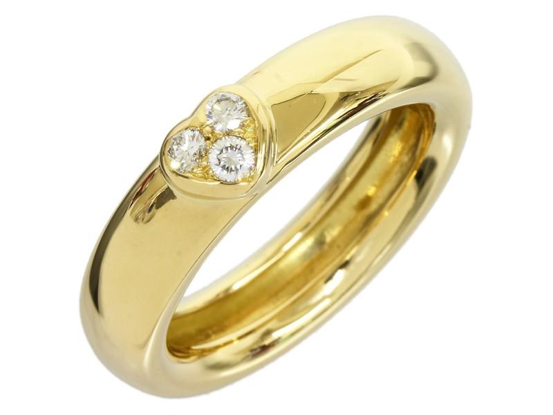 Tiffany & Co. 18K Yellow Gold Three Diamond Ring