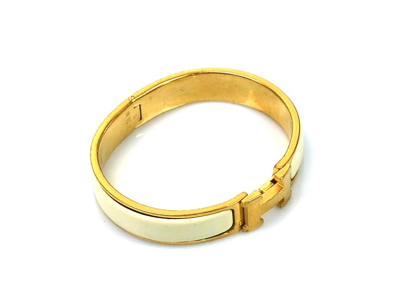 Hermes Metal Enamel Bracelet