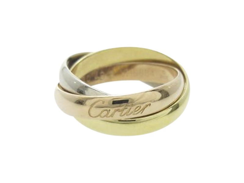 Cartier 18K Trinity Classical Ring Size: 5.5