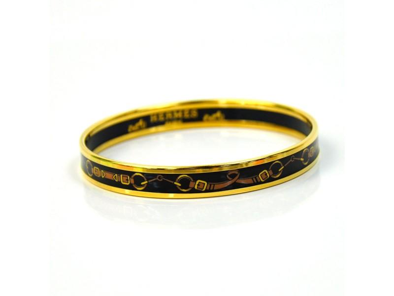 Hermes Metal Cloisonne Bangle Bracelet