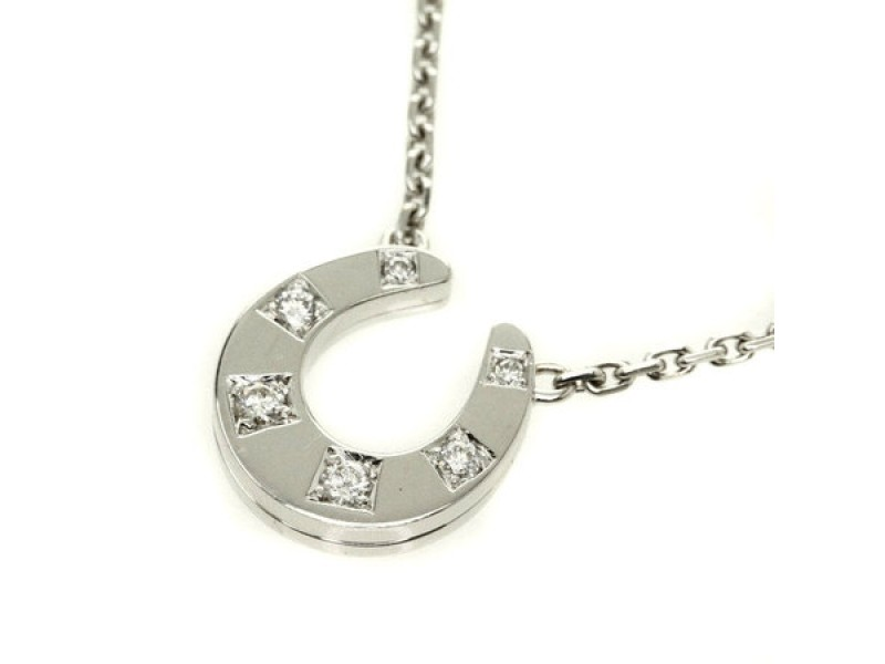 Hermes 18K White Gold Diamond Necklace