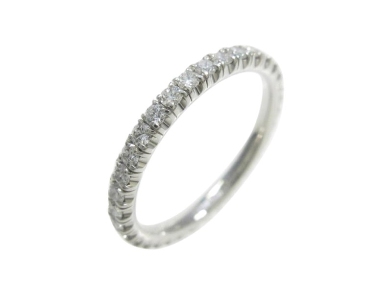 Cartier 18K White Gold Eternity Ring Size 4