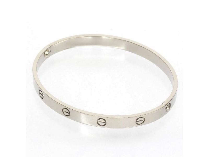 Cartier 18K White Gold Love Bangle Bracelet