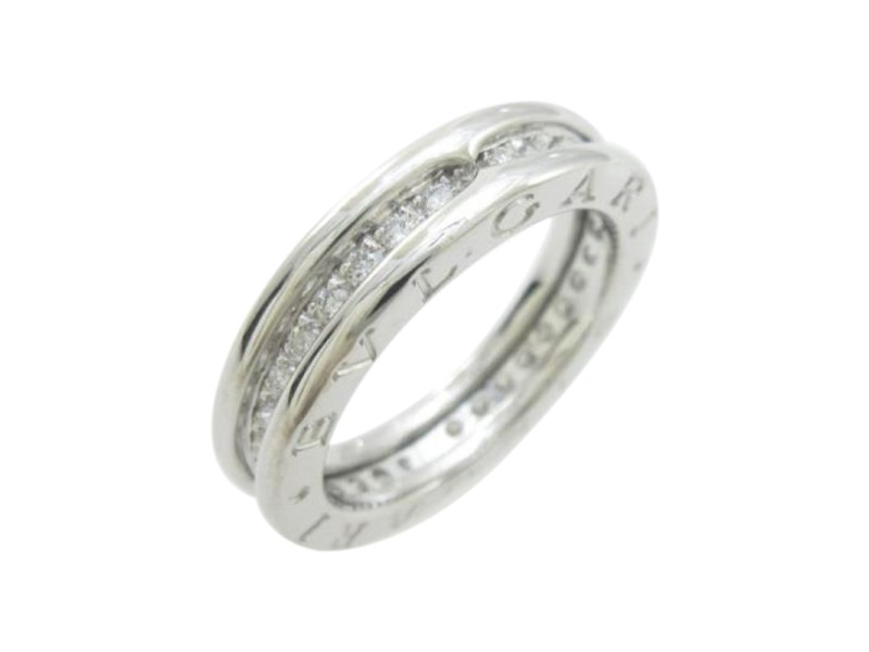 Bulgari 18K White Gold Zero1 1 Band Ring