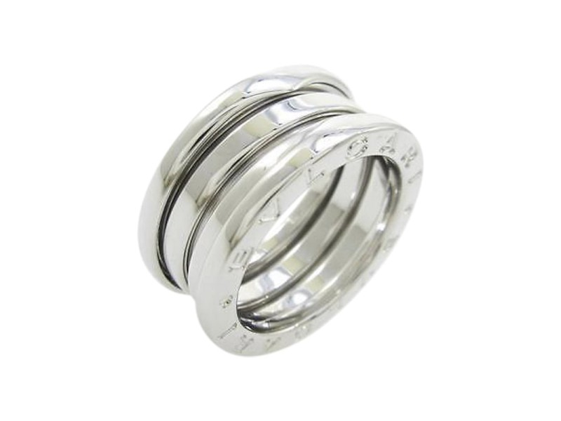 Bulgari 18K White Gold B Zero1 3 Band Ring