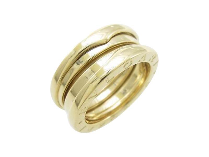 Bulgari B zero1 750 Yellow Gold Band Ring Size U.S. 4.5 EU 48