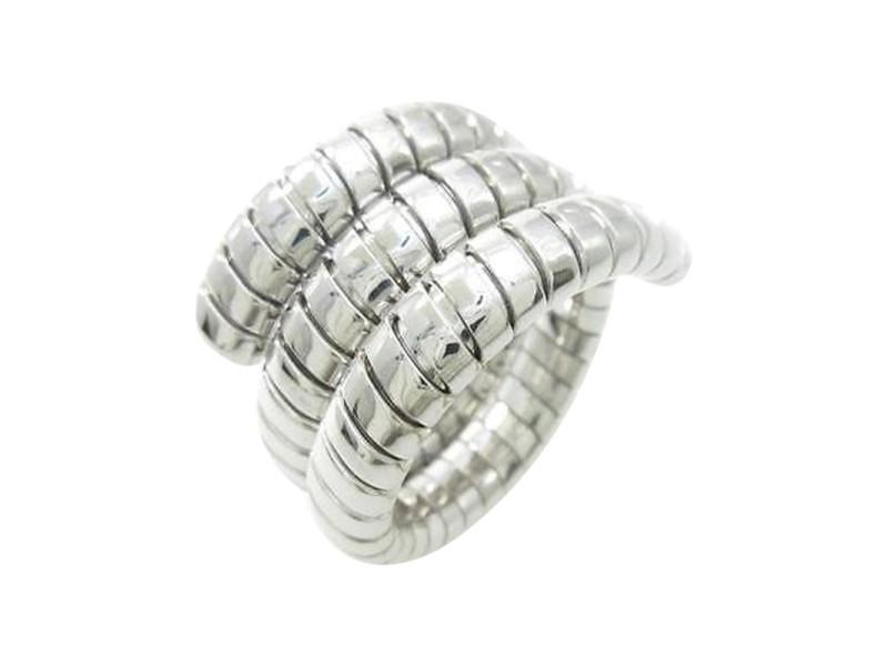 Bulgari 750 White Gold Tubogas Ring