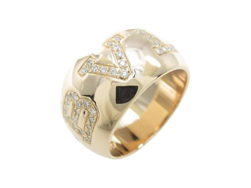 Bulgari 750 Pink Gold Monorogo Ring