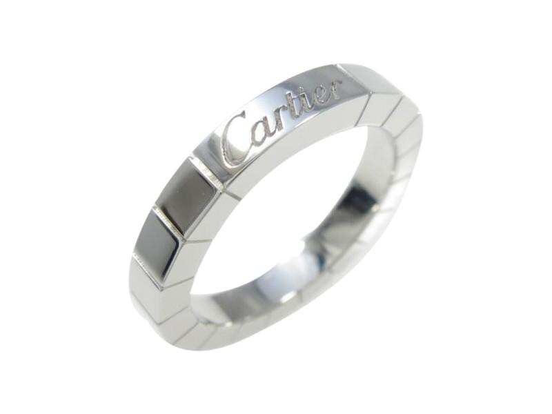 Cartier 750 White Gold Ranieru Ring Size 4.5