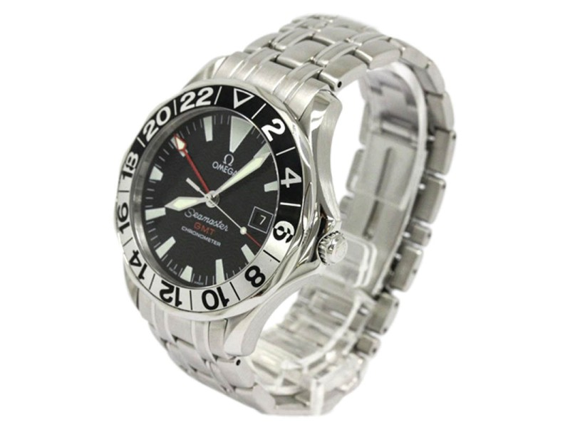 Omega Seamaster GMT 50th Anniversary Stainless Steel Automatic Mens Watch