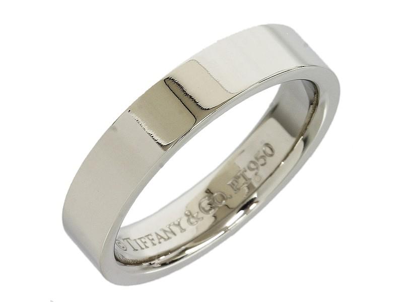 Tiffany & Co. Flat pt950 Platinum Ring