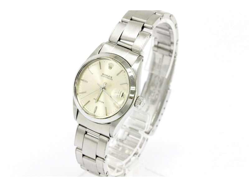 Rolex Oyster Date Precision 6466 Stainless Steel 30mm Watch