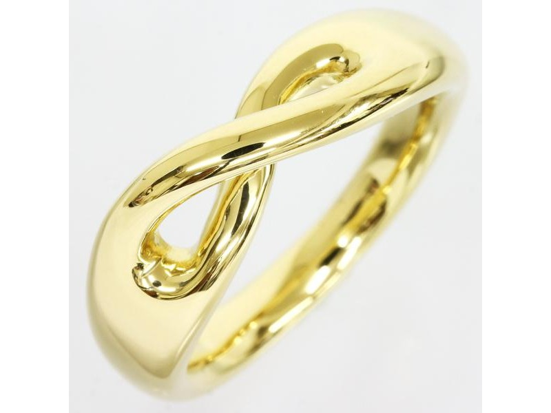 Tiffany And Co. 18K Yellow Gold Eight Motif Ring