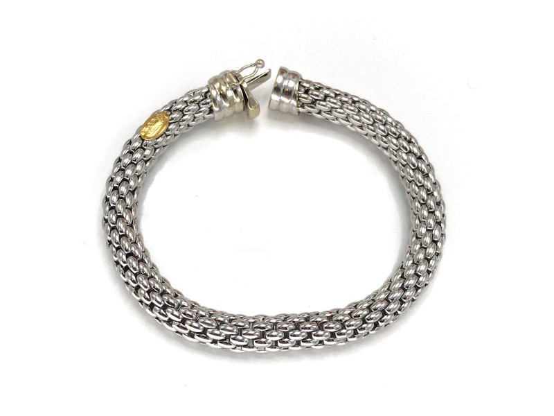 Fope 18k White Gold Flex It Bracelet