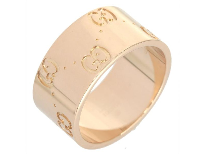Gucci 18K Pink Gold Wide Ring