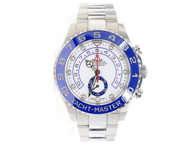 Rolex Yacht-Master II 44mm New Mercedes Hands Steel Watch