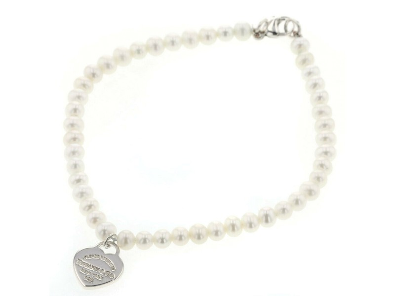 TIFFANY & Co. silver Return to Heart Tag bracelet