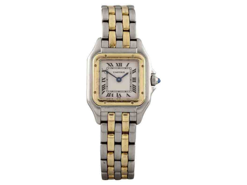 Cartier Panthere 1120 18K Yellow Gold and Stainless Steel 21mm Quartz Women Watch