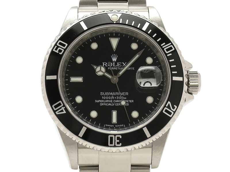 Rolex Submariner Date Roulett 16610 Stainless Steel 40mm Mens Watch