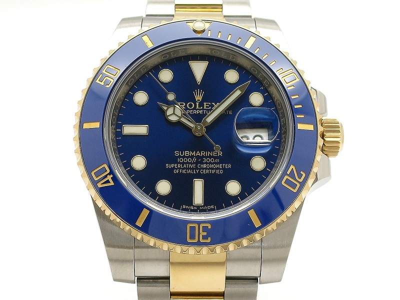 Rolex Submariner 116613LB 18k Yellow Gold/Stainless Steel 40mm Mens Watch